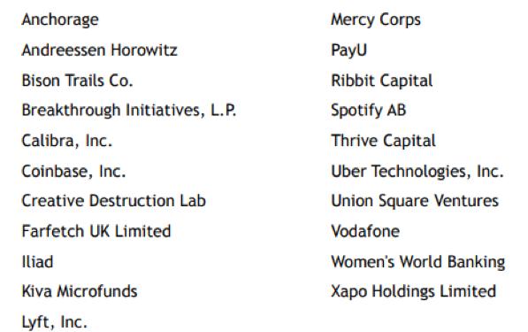 21家Libra协会初始成员