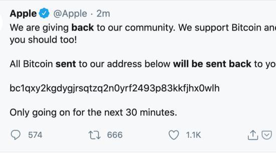 苹果公司推特